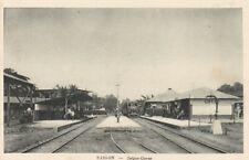 Gare Station de train de Govap Saigon Cochinchine Indochine Vietnam railway