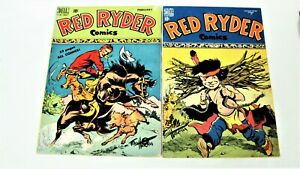 Red Ryder Comics-Golden Age-7 Book Lot