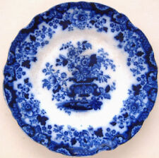 Ironstone Blue Staffordshire Pottery Dinner Plates