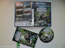 PLAYSTATION 2 PS2 PAL GAME GHOST RECON JUNGLE STORM CLEANED AND PLAYED