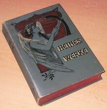 Werke Heine Heinrich sämtliche Werke  Ludwig Holthof um 1900 Ein Band  Ausgabe