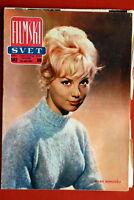 MYLENE DEMONGEOT ON RARE COVER 1962 VINTAGE EXYUGO MAGAZINE