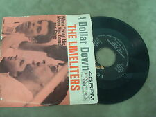 "THE LIMELITERS- A DOLLAR DOWN/ WHEN TWICE THE MOON HAS COME AND GO  7"" SINGLE"