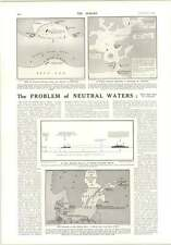 1914 Problem Of Neutral Waters Freezing Baltic Captain Skaife Legard Passy
