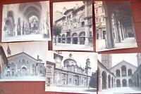 1890 MILANO LOTTO DI 7 FOTO ORIGINALI CHIESE SAN BABILA SANT'EUSTORGIO...
