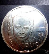 San Marino 1000 Lire 1996 AG Karl R. Popper