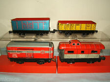 VINTAGE MARX  '0'  2-RAIL MODEL No. XXX  4 PIECE FREIGHT SET