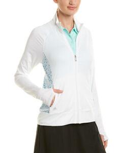 NWT Adidas M Golf Women's Rangewear Full-Zip Jacket - White Medium