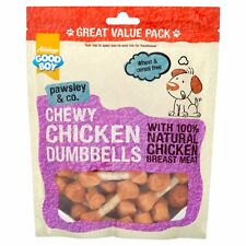 Good Boy Pawsley Dog Puppy Chewy CHICKEN DUMBBELLS VALUE Treats Chews 350gm