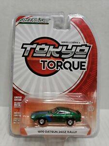 Rare Greenlight Tokyo Torque 1970 Datsun 240z Rally Green Machine Chase #2896