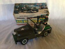 T.N Nomura no. 394 Ranger Jeep Army / Military Tin Toy Vintage Rare Boxed