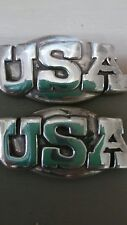 "United States of America Usa Lot of 2 Conchos with Screws 1 1/2"" Wide"