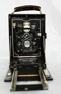 Rare Goerz DRP  folding medium format camera. zeiss ikon compur lens with case