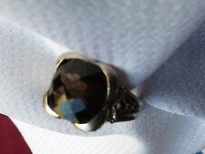Judith Ripka SS Faceted  Smokey Quartz & Pink Tourmaline Ring - Size 7