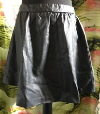 BNWT  Black Leather Look Skirt Size L
