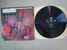 UHURU THE FREEDOM DRUMS OF AFRICA LP THE AFRICAN UNION BAND THE TALKING DRUM