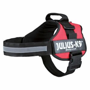 JULIUS K9 IDC® POWER DOG HARNESS STRONG ADJUSTABLE and REFLECTIVE - RED