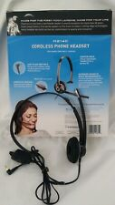 Plantronics M214C Cordless Phone Headset w/Noise Cancelling Mic Over-the-Head