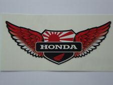 """2  HONDA  WINGS STICKERS 4 """"  MOTORBIKE HELMET  IOM TT SUZUKI HONDA YAMAHA"""