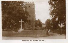 Church and War Memorial - WELFORD - Northants Original Unused Postcard (1.96)