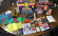 Children's Magic Magician Set Lot Houdini, Siegfried & Roy, Cards, Acceesories