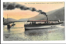 Steam Pleasure Cruiser Ville D'Aix Returning to Harbour Lac Du Bourget, Unposted
