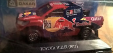 Toyota Hilux 2017 Dakar Nasser al Attiyah Scale 1:43 New With Magazine & Stand