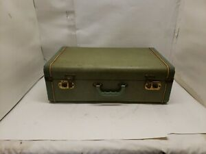 Vintage Hard Shell Suitcase, Green, 21x13x7