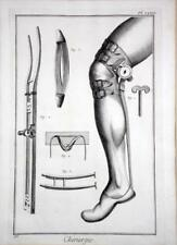 Diderot Enclyclopedie Chirurgie Surgery Plate XXII 33 Engraving Good Condition