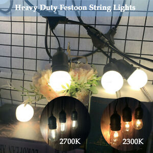 6.5M 5 Hanging Sockets Mains Powered Outdoor Festoon String Lights Wedding Party