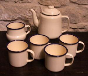 Enamel Teapot Jug & Mug set