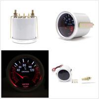 """Car DC12V 2"""" 52mm Round Smoke Len LED Indicator Water Temp Temperature Gauge Kit"""
