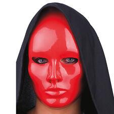 Masque neutre rouge brillant [0087rouge] carnaval costume deguisement loisirs