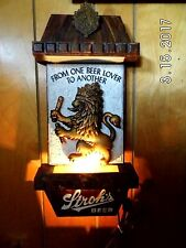 Vintage Stroh's Lighted Beer Sign From One Beer Lover To Another Works