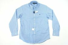 RALPH LAUREN PLAID CHECK BABY BLUE 2XL STRETCH BUTTON FRONT SHIRT NWT NEW