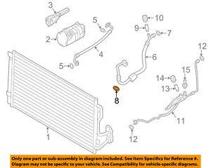 BMW OEM X6 A/C AC Condenser/Compressor/Line-Suction Hose O-ring 64508363041