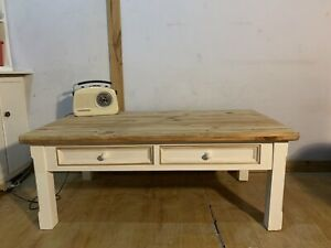 Farmhouse coffee table with drawers NEG