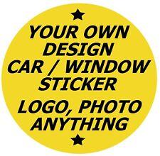 Eigenen Design Auto / Fenster Innen Aufkleber / Sticker + 1 Gratis, Logo, Foto /