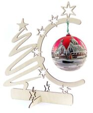 """ORNAMENT DISPLAY STAND HOLDER HANGERS WOODEN 12"""" TALL"""