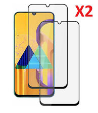 2 Pack For Samsung Galaxy M30s Tempered Glass Screen Protector Full Coverage