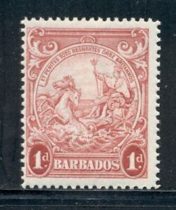 BARBADOS 194 SG249a MH 1938 1p red Seal of the Colony Perf 14 Cat$14