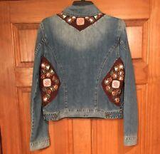 ARTISAN DE LUXE Denim Jean Jacket Embroidery Large