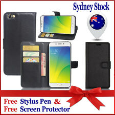 Black wallet Leather Flip PU Case Cover For Oppo F1 | F1S | F3 | F3 Plus