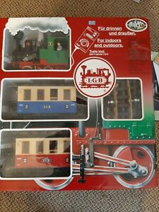 L.G.B. train set complete with track and transformer #US22301