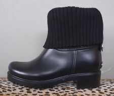 TOMMY HILFIGER Black Rubber Fleece Lined SILVINA Rain Boots