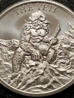 The Yeti 2 oz .999 Silver round Abominable snowman Himalayan Folklore Bigfoot