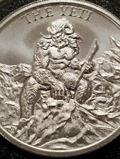 The Yeti 2 oz .999 Silver round Abominable snowman Himalayan Folklore Bigfoot