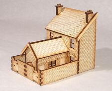 HS003 Low Relief Rear Victorian Double Terraced Houses OO Gauge Laser Cut Kit