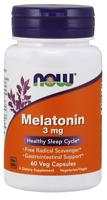 NOW FOODS Melatonin 3mg 60 Vegane Kapseln, VERSAND WELTWEIT