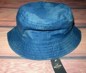 MENS HOLLISTER TROPICAL BLUE BUCKET HAT ONE SIZE